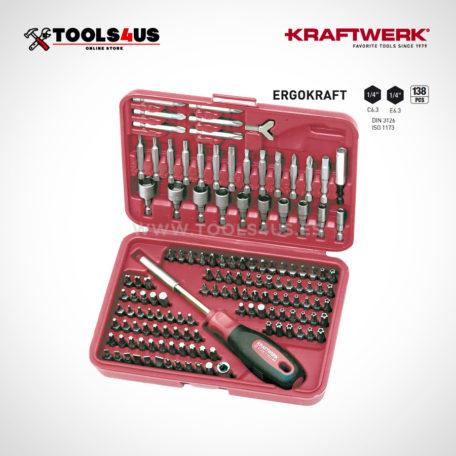 2778 KRAFTWERK estuche puntas hyper bit 138 piezas totalmente funcional 01