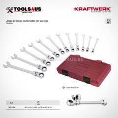 3403 54 estuche herramientas juego llaves combinadas carraca flexible 01