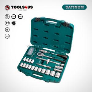 106 SATINUM maletin carraca llaves vasos puntas allen herramientas barcelona _01